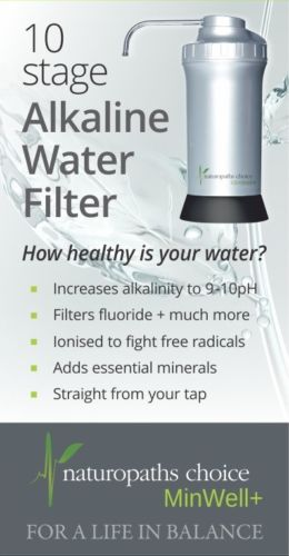 Minwell+, Water filter, alkaline water, hydrogen